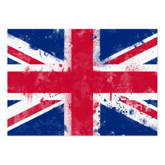 Flag of the United Kingdom or the Union Jack Pack Of Chubby Business Cards