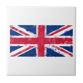 Flag of the United Kingdom or the Union Jack Small Square Tile