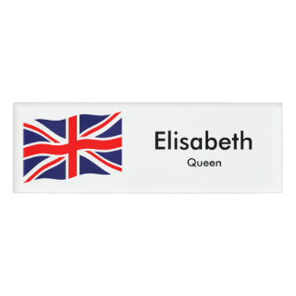 Flag of the United Kingdom + your ideas Name Tag