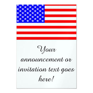Flag of The United States 13 Cm X 18 Cm Invitation Card