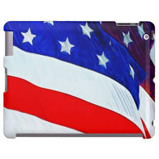 Flag of the United States Abstract Impressionism iPad Case