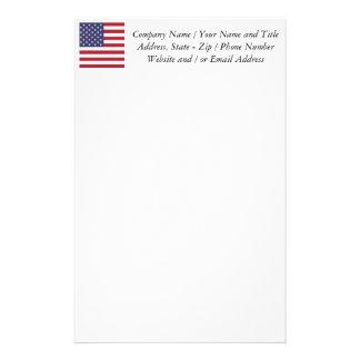 Flag of the United States Custom Stationery
