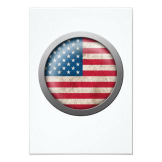Flag of The United States Disc 9 Cm X 13 Cm Invitation Card