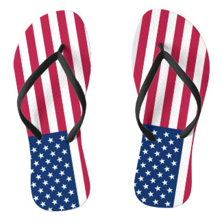 Flag of the United States Flip Flops