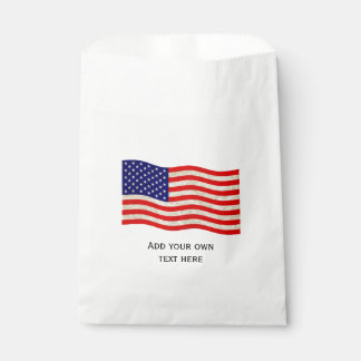Flag of the United States of America - grungy Favour Bags