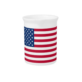 Flag of the United States of America Pitcher