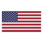 Flag of The United States Of America Small Poster