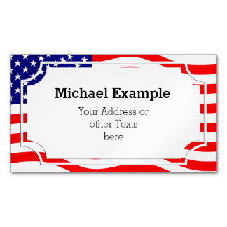 Flag of the United States of America - your ideas Magnetic Business Cards