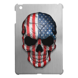 Flag of The United States on a Steel Skull Graphic Case For The iPad Mini