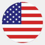 Flag of the United States Round Sticker