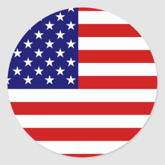 Flag of the United States Round Sticker