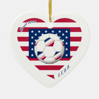 Flag of the UNITED STATES SOCCER wins of the world Christmas Tree Ornament