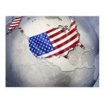 Flag of the USA Postcard