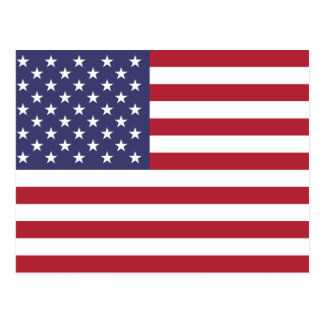 Flag of the USA Postcard