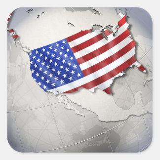 Flag of the USA Square Sticker