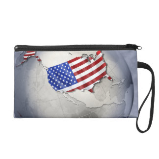 Flag of the USA Wristlet Clutches
