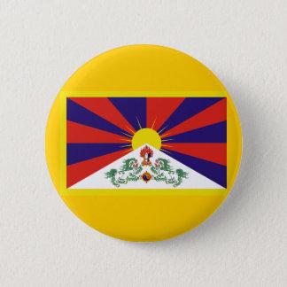 Flag of Tibet 6 Cm Round Badge