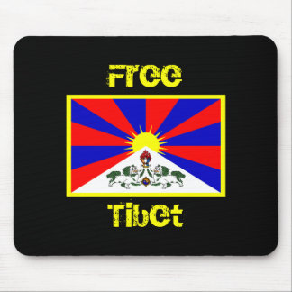 Flag of Tibet FREE TIBET Mousepad