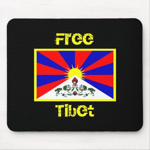 Flag of Tibet FREE TIBET Mousepad