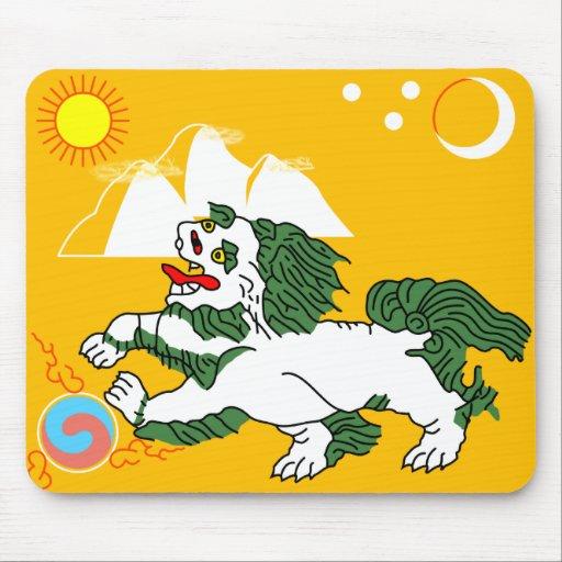 Flag of Tibet Mousepads