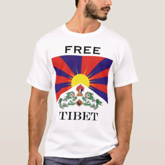 Flag of Tibet  or Snow Lion Flag T-Shirt