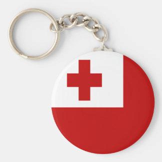 FLAG OF TONGA BASIC ROUND BUTTON KEY RING