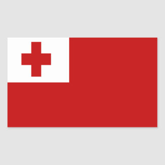 FLAG OF TONGA RECTANGULAR STICKER