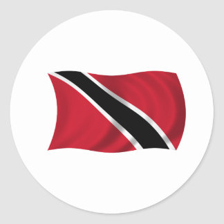 Flag of Trinidad and Tobago Classic Round Sticker