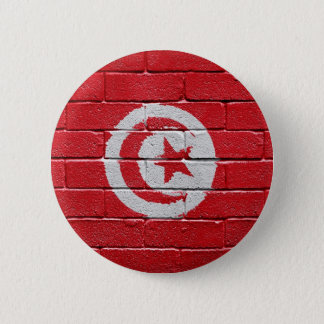 Flag of Tunisia 6 Cm Round Badge