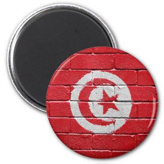 Flag of Tunisia 6 Cm Round Magnet
