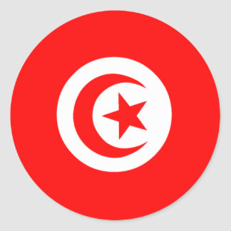 Flag of Tunisia Round Sticker