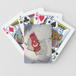 Flag of Turkey Bicycle Playing Cards