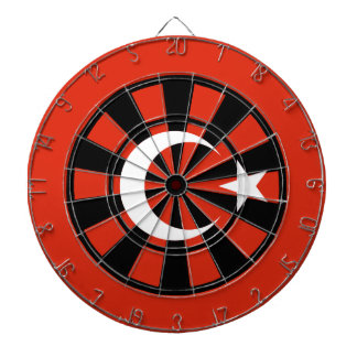 Flag of Turkey Multi Ring Art Dart Board