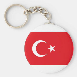 Flag of Turkey Products Basic Round Button Key Ring