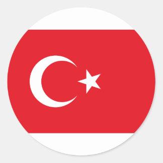 Flag of Turkey Products Round Sticker
