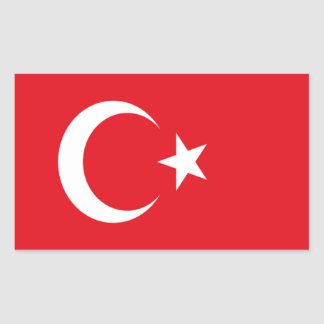 Flag of Turkey Rectangular Sticker