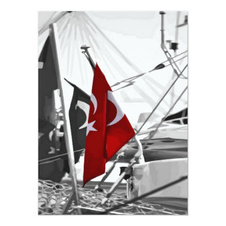 Flag of Turkey - Selective Coloring Personalized Announcements