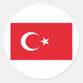 Flag of Turkey Round Sticker