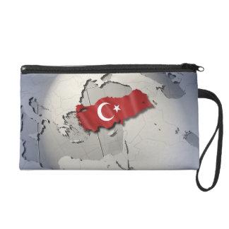 Flag of Turkey Wristlet Clutch