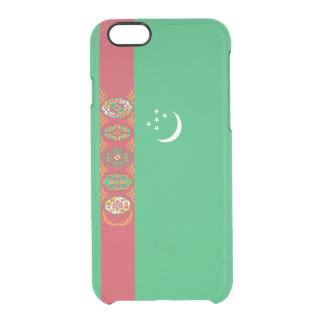 Flag of Turkmenistan Clear iPhone Case