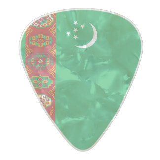 Flag of Turkmenistan Guitar Picks