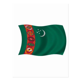 Flag of Turkmenistan Postcard