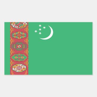Flag of Turkmenistan Rectangular Sticker