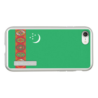 Flag of Turkmenistan Silver iPhone Case