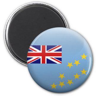 Flag of Tuvalu 6 Cm Round Magnet