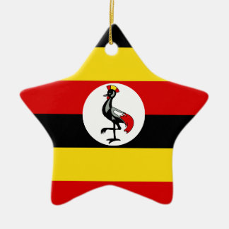 Flag of Uganda Christmas Ornament