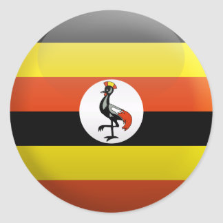 Flag of Uganda Classic Round Sticker