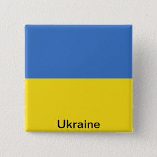 Flag of Ukraine 15 Cm Square Badge