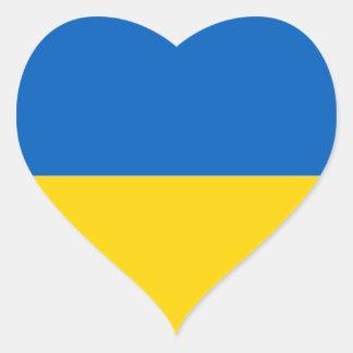 Flag of Ukraine Heart Sticker