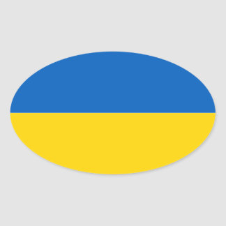 Flag of Ukraine Oval Sticker